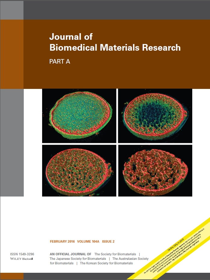 Journal of Biomedical Materials Research Part A cover1